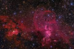 NGC 3576/3603 - The Statue of Liberty Nebula.